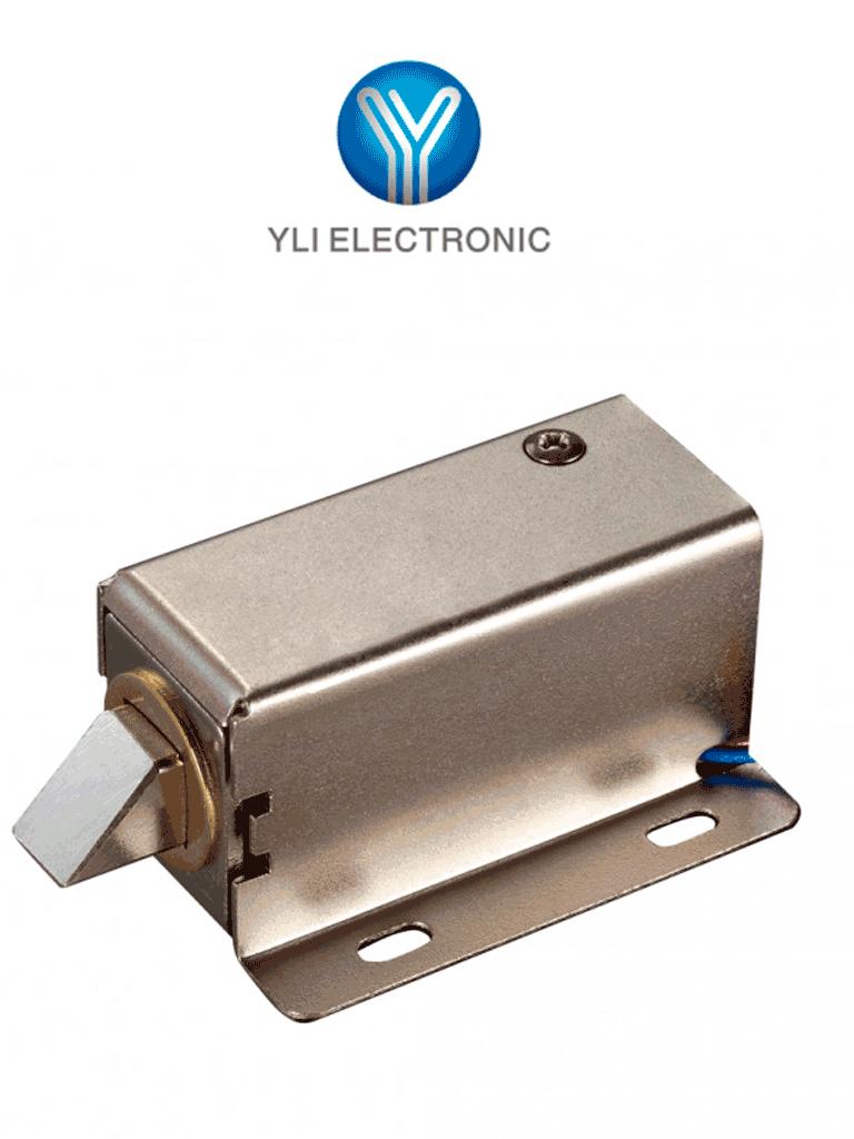 YLI YE302A - Cerradura eléctrica de pistón / Compatible con pulsos  NC y NO / 12  VDC / Armarios / Lockers / Archiveros/ Sobrepedido