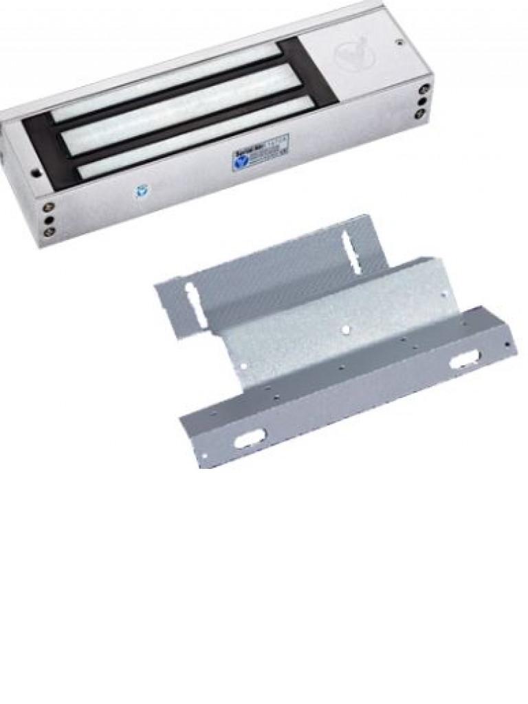 YLI KIT500ZL - Paquete de contrachapa magnetica de uso rudo / Hasta 500 Kg / Incluye accesorio  ZL / Voltaje dual / Puertas MADERA, V IDRIO, metal