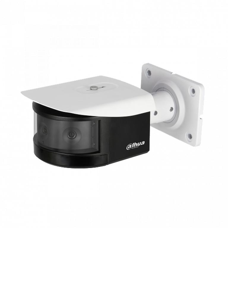 DAHUA IPCPFW8601 - Camara IP bullet 2 MP / MULTISENSOR Panoramico de 3 lentes / Vision 180 grados / H.265+ / Ir 30  Mts / IP67 / IK10 / HEAT MAP / WDR Real