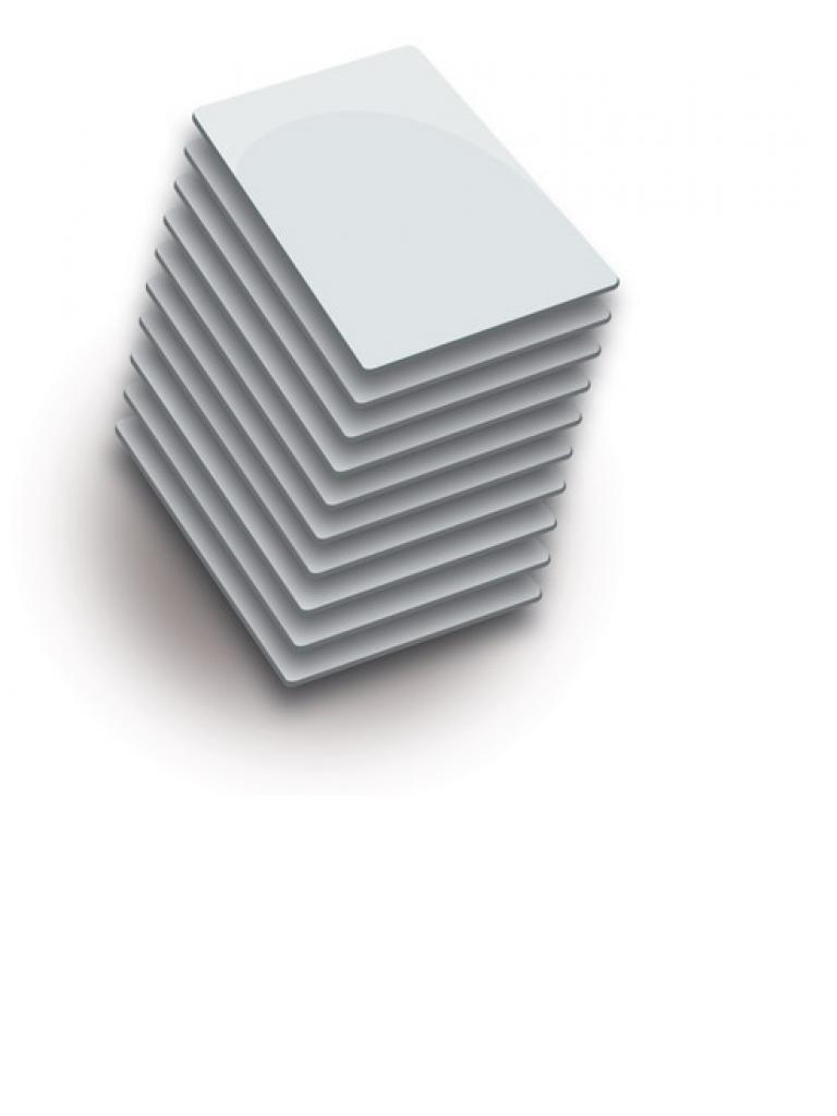 ZKTECO MIFARECARD4K - Paquete de 10 Tarjetas Mifare 13.56 Mhz/ PVC/ Imprimibles/ 4K / Sobrepedido