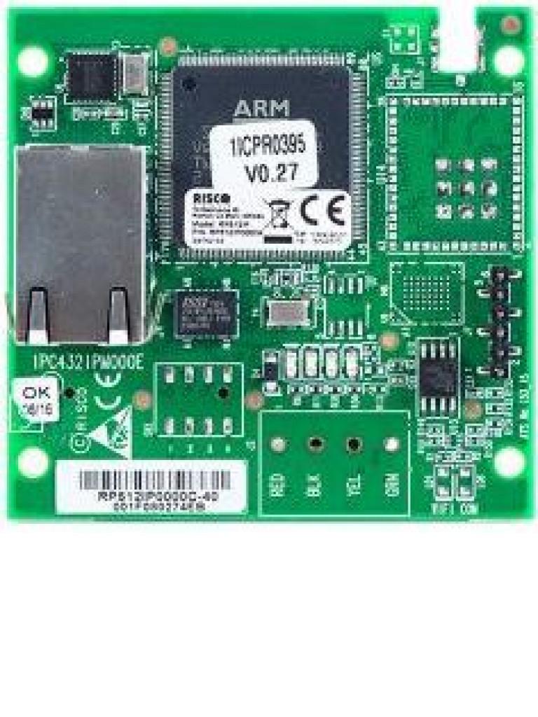 RISCO RP512IP0000A - Modulo IP Para Centralizar y Recibir Notificaciones Alarma Conectada Mediante Cable Ethernet / SIA IP / Compatible Con Lightsys y Prosys Plus