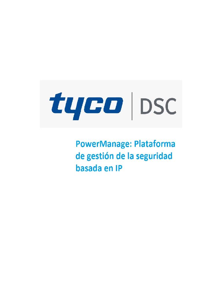 DSC Power Manage 5000 cuentas - Plataforma de Gestion para la seguridad basada en IP / 5000 cuentas / Solo Software