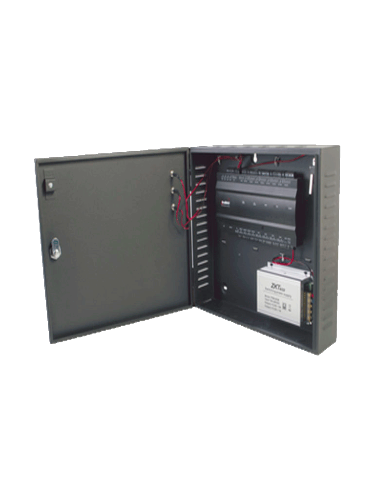 ZKTECO INBIO460B - Panel de Control de Acceso Profesional / 4 Puertas / con Gabinete y Fuente incluidos / 20 000 Huellas / PULL / Admite Biometría / Entradas y Salidas Auxiliares para Conexión  de Semáforos o Sirenas