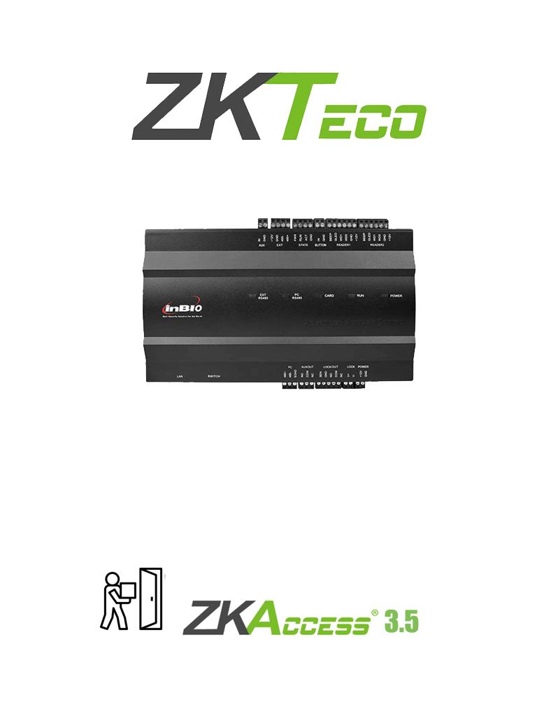 ZKTECO INBIO160 - PANEL DE CONTROL DE ACCESO PARA 1 PUERTA / 2 LECTORAS / 3 MIL HUELLAS / PULL SDK / 12 MESES DE GARANTIA