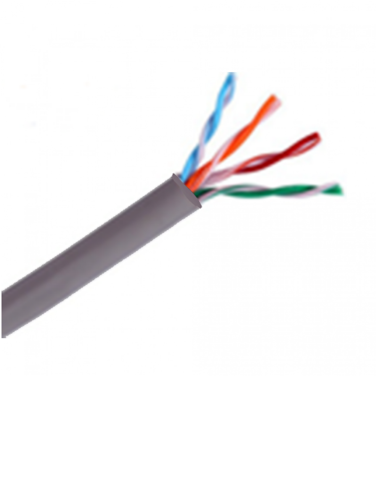 SAXXON OUTPCAT5E - Cable UTP 100% cobre / Categoria 5E / Color gris / Interior / 305  Mts / Fluke test / Redes / Video / 4 Pares
