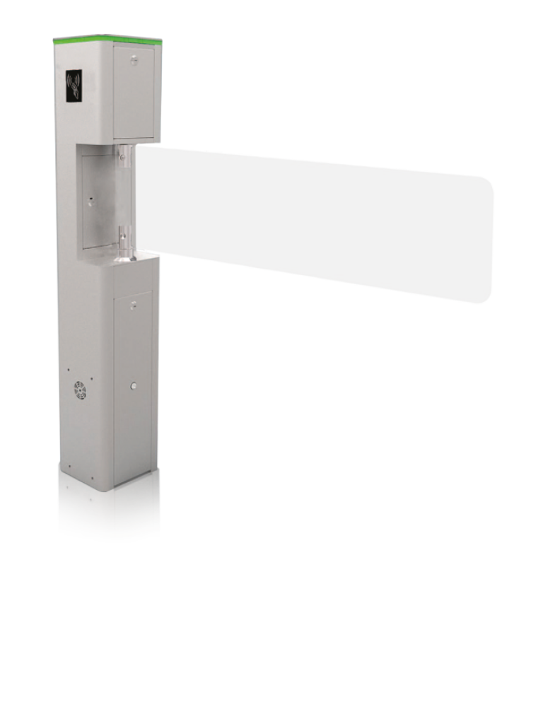 ZKTECO SBT1000S - SWING BARRIER para Control de Acceso Peatonal / Puerta de Cortesía / Apertura por Pulso Seco / Fácil Integración con Controles de Acceso