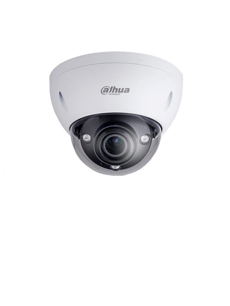 DAHUA IPCHDBW81230EZ - Camara IP domo antivandalica 4K / 12 Megapixeles / Lente motorizado 4.1 mm-16.4 mm / H.265 / Ir 50  Mts / IP67 / IK10 /  PoE / Memoria SD