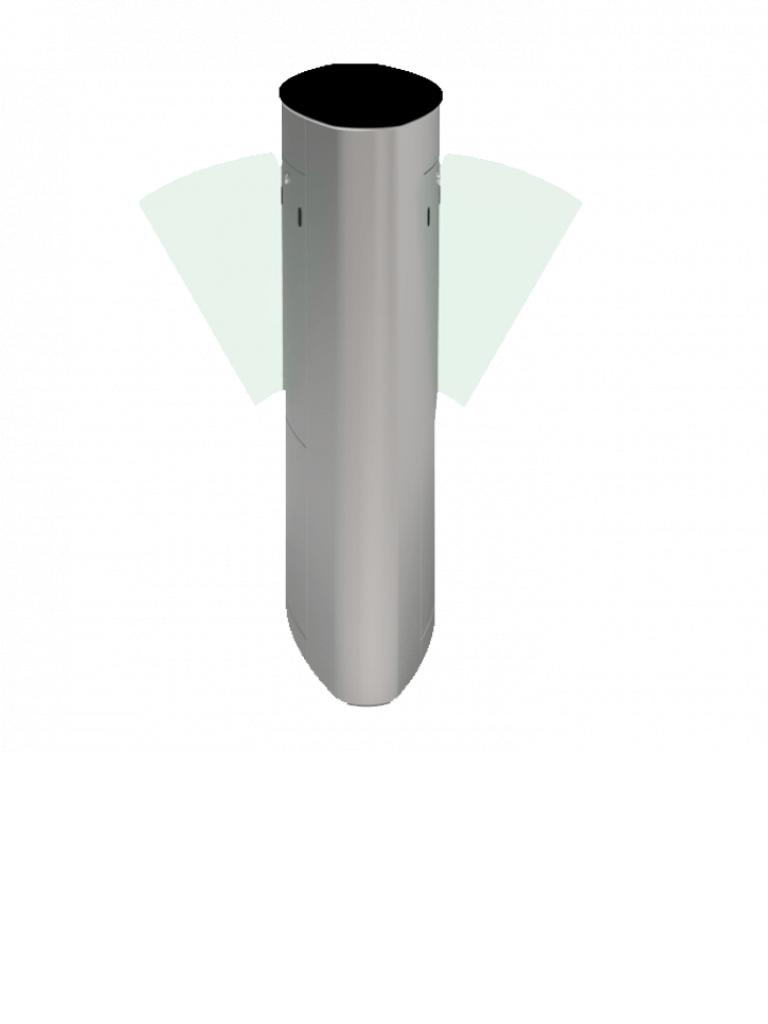 ZKTECO FBL5222 - FLAP BARRIER  Control de Acceso / Lector de Huellas Integrado / Soporta Tarjetas  ID / Todo en Uno