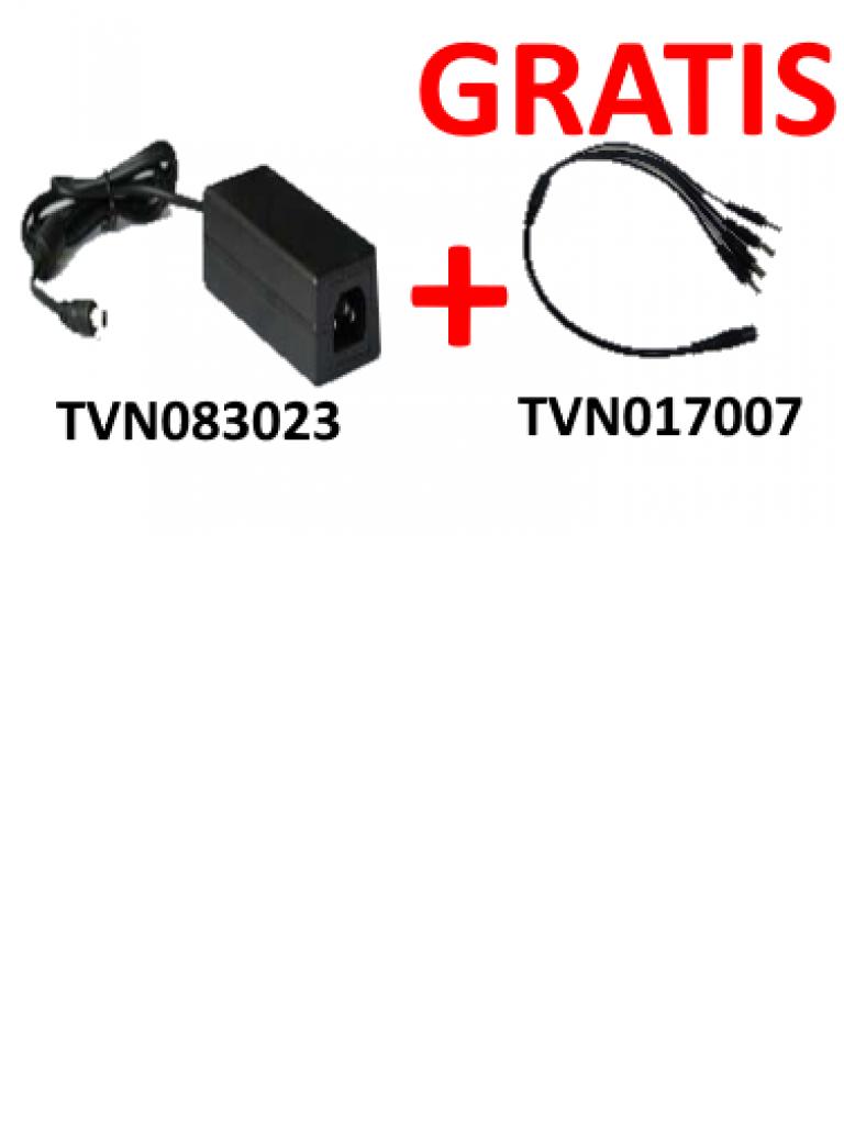 SAXXON PSU1204EPAQ2- FUENTE DE PODER REGULADA + GRATIS DIVISOR DE ENERGIA 4 CONECTORES MACHO/ 12V DC/ 4.1 AMP/ COLOR NEGRO