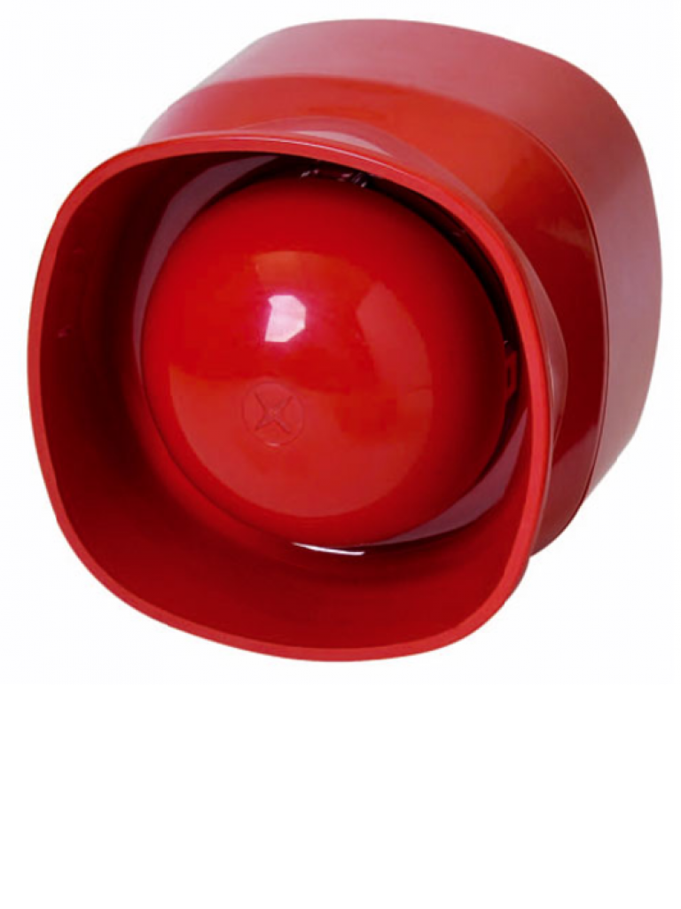 BOSCH F_FNM420ARD - Sirena de base para interior / Color rojo / Hasta 101  dB de volumen