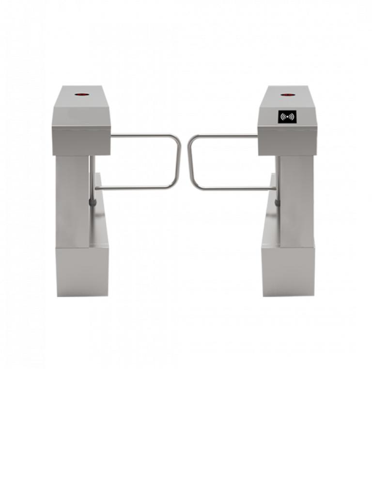ZKTECO SBTL2022 - Barrera Abatible para un Carril / Sistema  RFID / Reconocimiento de Huella Digital / Sobre Pedido