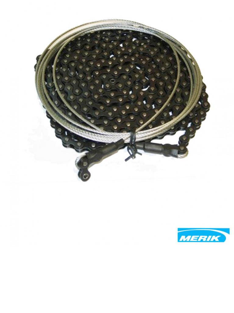 MERIK MRC - Juego de cadena con cable para motor MERIK