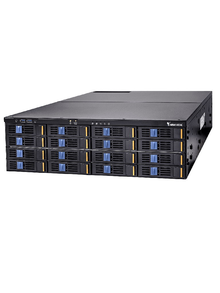 VIVOTEK NR9782V2 - NVR 128 Canales / 16 Bahias SATA / Hasta 160 TB / Salida  HDMI DP DVI / H265 / ONVIF / Dual LAN / Energia redundante