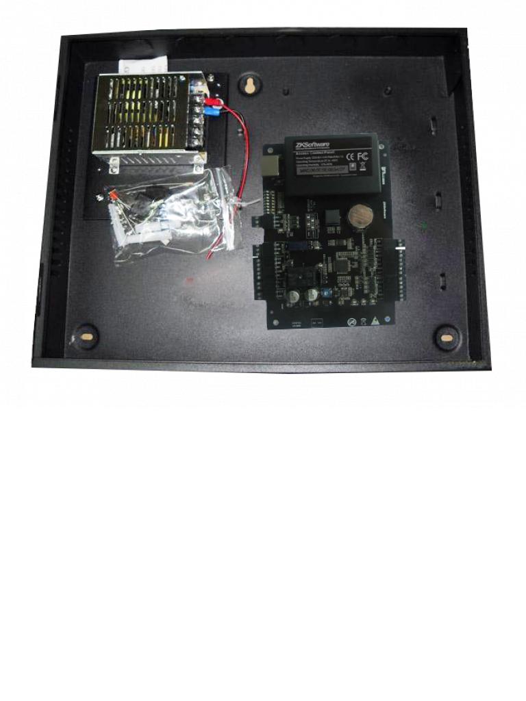 ZK C3100B - Control de acceso profesional / 1 Puerta / 2 Lectoras / PULL / Gabinete y fuente / Sin biometria