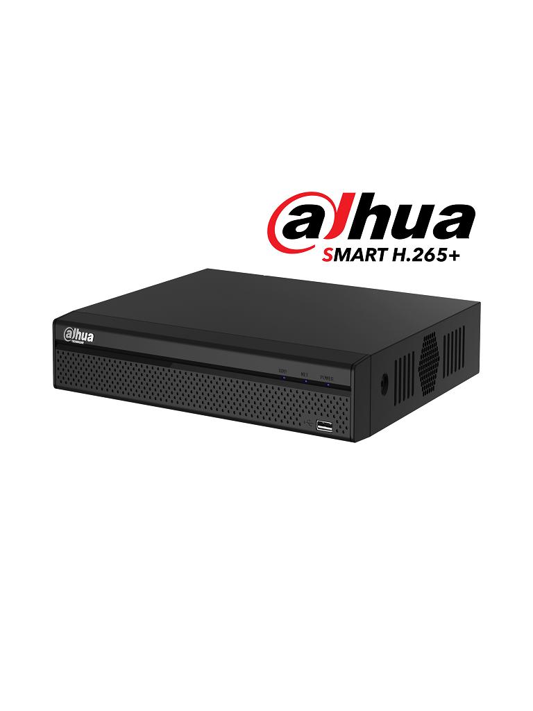 DAHUA XVR5104HS-X1 - DVR 4 Canales Pentahibrido 4 Megapixeles Lite/ 1080p/ 720p/ H265+/ 2 Ch IP adicionales 4+2/ IVS/ 1 SATA Hasta 6TB/ P2P/ Smart Audio/ PROMOTCD