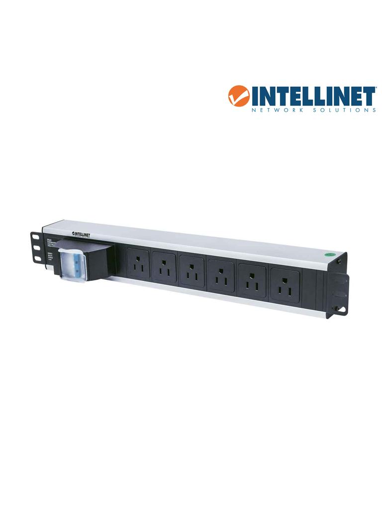 "INTELLINET 713948- Barra PDU / 6 cont. / Gab/Rack 19""/ 1.5U / Contra corto circuito"