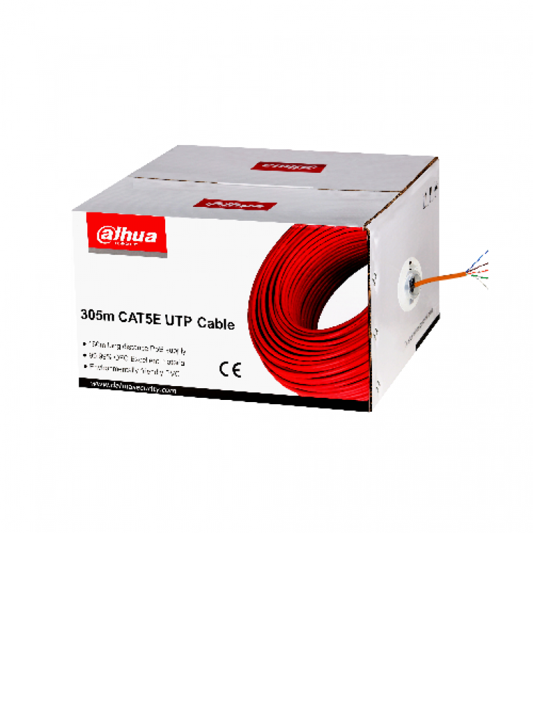 DAHUA PFM920I5 - Bobina de cable UTP 100% cobre / Categoria 5E / Color naranja / Interior / 305 Metros / Redes / Video
