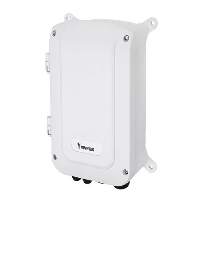 VIVOTEK AWGET083A120 - Switch  Gigabit  PoE para exterior / 4 Puertos GE / 2 Puertos SFP / Proteccion de sobrecarga / IP67 / IK10 / Hasta 30W / 120W Totales / No ADMIN