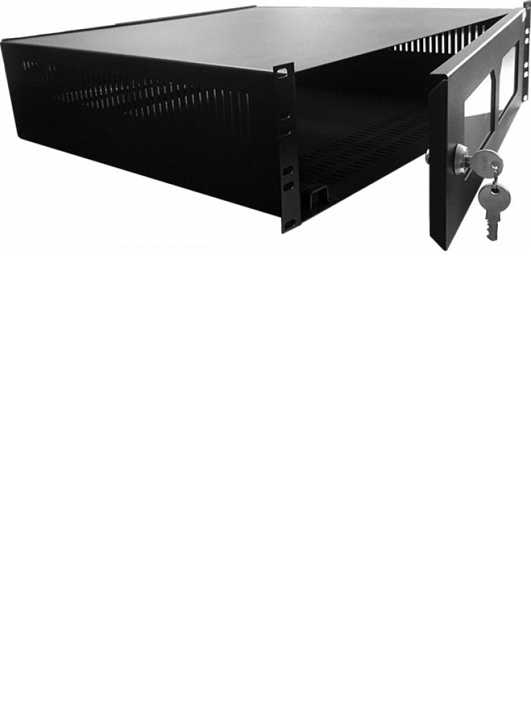 LACES LA300GDVR3 - Gabinete para resguardo de DVR / 3 UR / 19 Pulgadas / Acero calibre 18