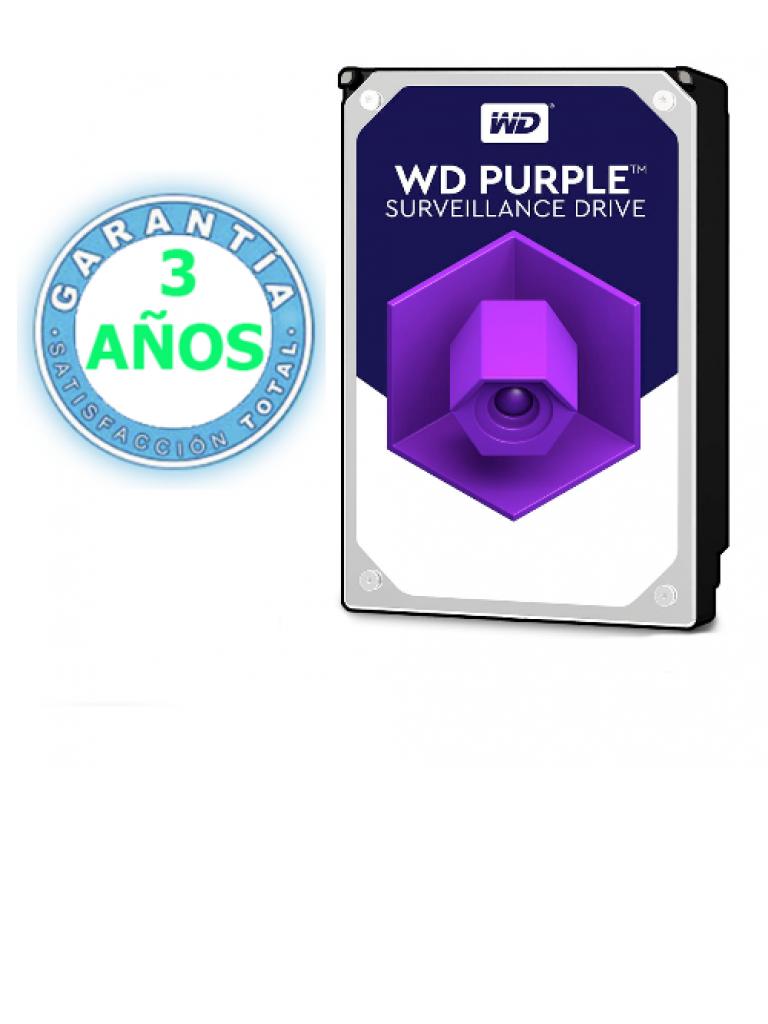 WESTERN WD30PURZ - Disco duro 3 TB / Serie PURPLE / SATA 6 GBS / Recomendado para videovigilancia / Tamano de 3.5