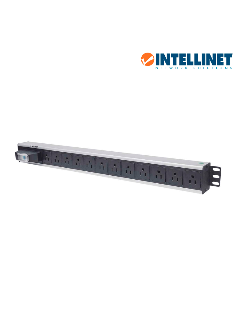 INTELLINET 713955- Barra PDU / 12 cont. / Gab/Rack, / Vertical /Contra corto circuito