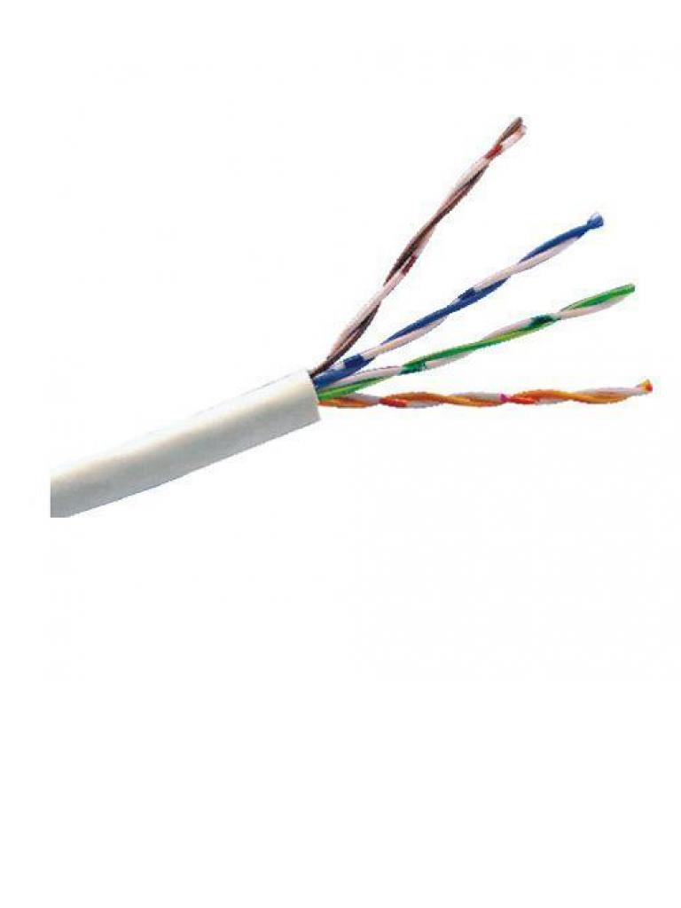 SAXXON OUTP5ECOP100BC - Cable UTP 100% cobre / Categoria 5E / Color blanco / Interior / 100  Mts / FLUKE TEST / Redes / Video / 4 Pares