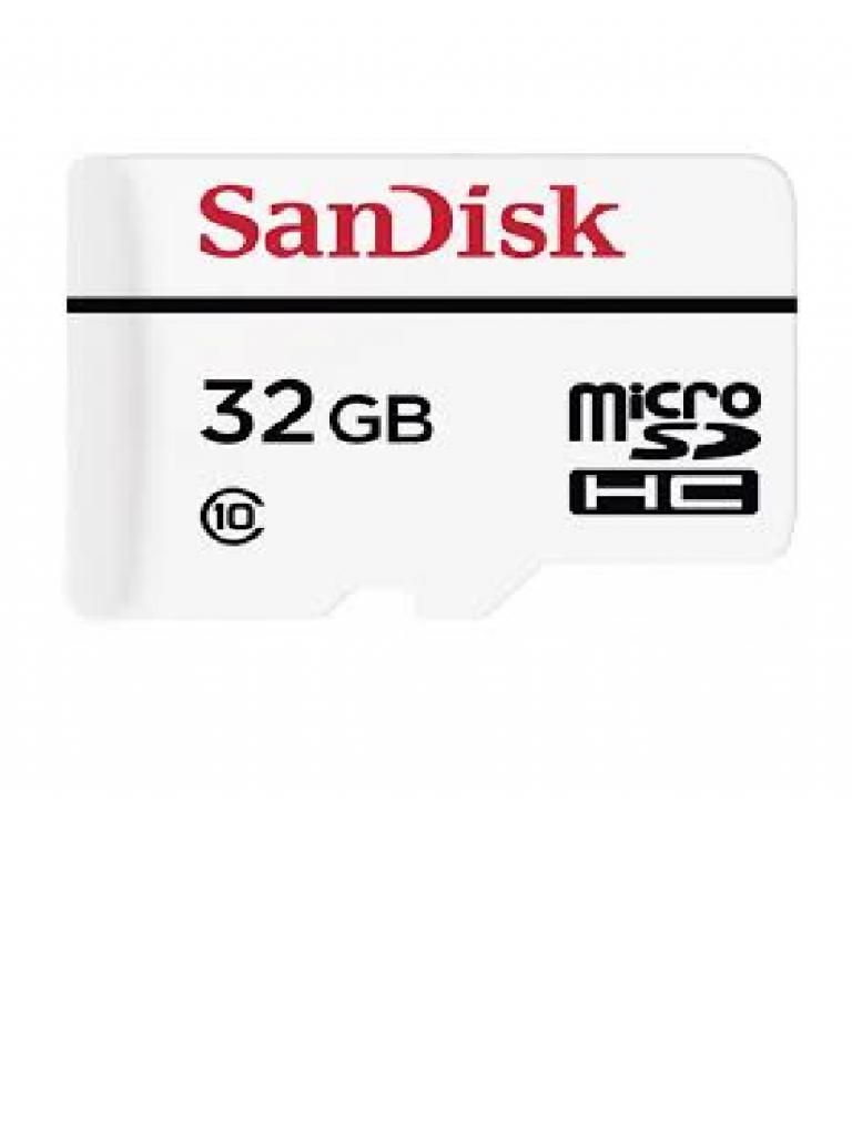 SANDISK SDSDQQ032GG46A - Memoria flash MICRO SD de 32GB / Ideal para camaras IP de video seguridad / Clase 10 / Velocidad de 20 Mbps escritura y lectura