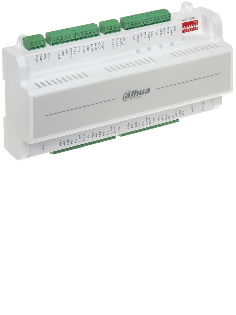 DAHUA ASC1202BD - Control de acceso para 2 puertas / 4 Lectoras  Wiegand o  RS485 / 100 000 Tarjetas / 150 000 Eventos / Soporta biometricos DAHUA
