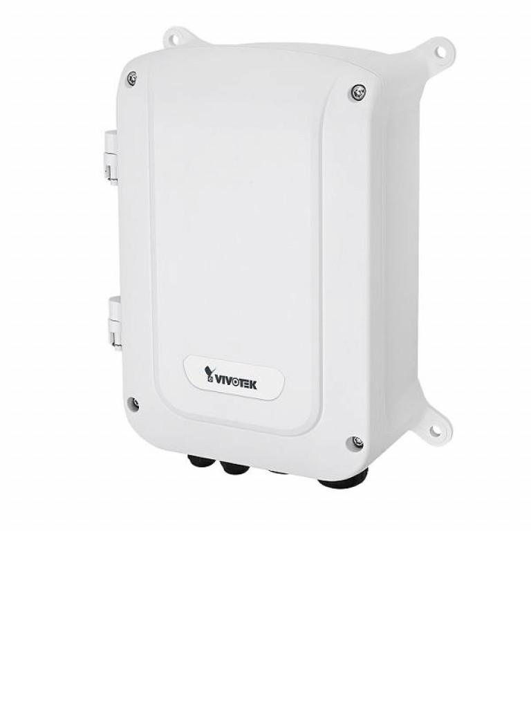 VIVOTEK AWGET123A240 - Switch  Gigabit  PoE para exterior / 8 Puertos GE / 4 Puertos SFP / IP67 / IK10 / 30W Por puerto / 240W Totales / Proteccion de descargas / No ADMIN