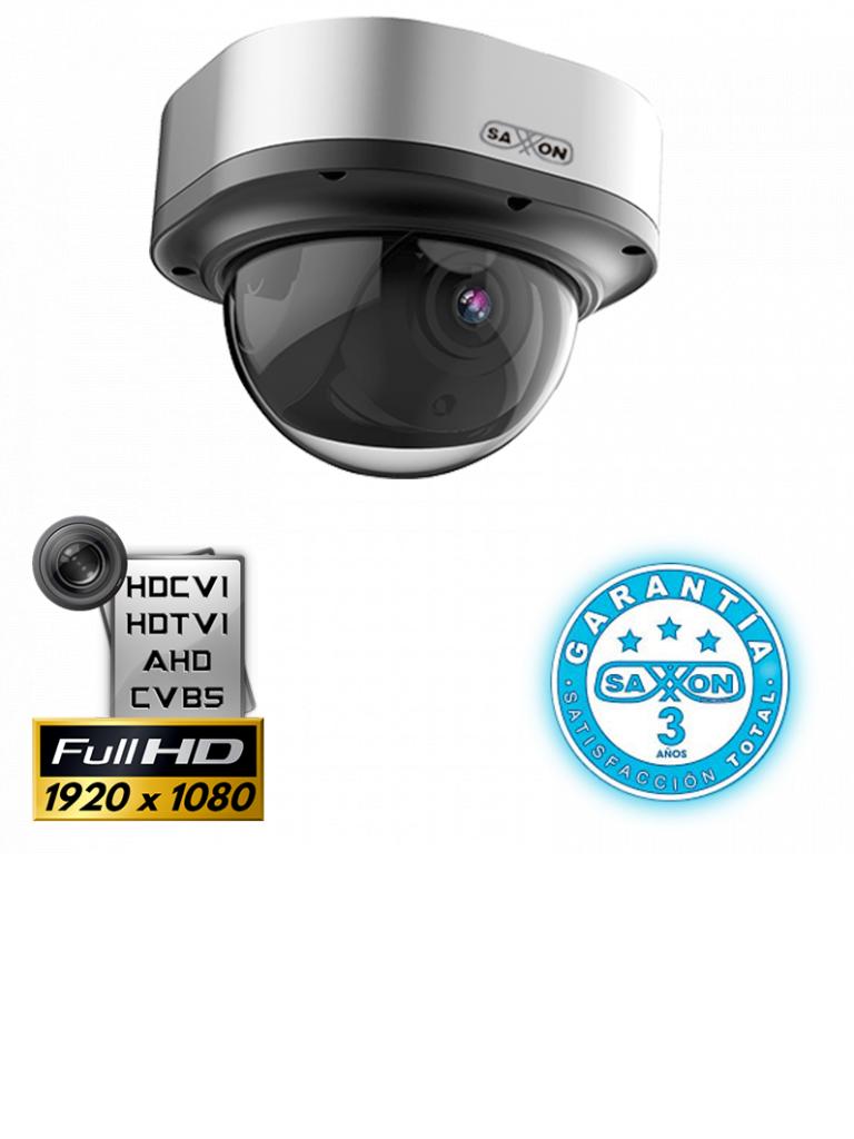 SAXXON TECH DVF2820TM- CAMARA DOMO HDCVI 1080P/ AHD/ TVI/ CBVS/ LENTE 2.8 A 12MM/ LUZ IR 30M/ DWDR/ IP67/ METALICA