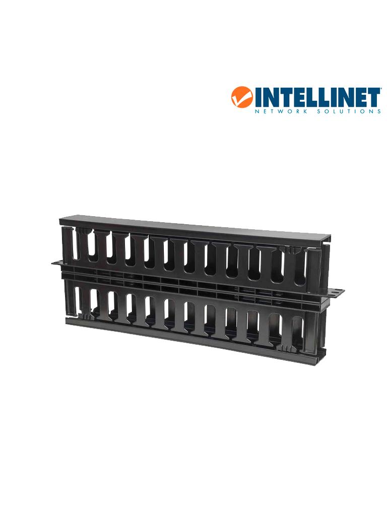 """INTELLINET 714655 - Organizador Cables 19""""/ 1U / plástico / doble cara"""