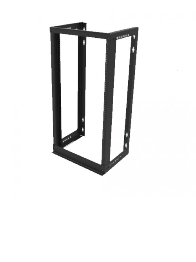 LACES LA100RP20 - Rack de pared / Aluminio / 20 UR / Perforacion roscada 12-24 / Soporta 80  Kg