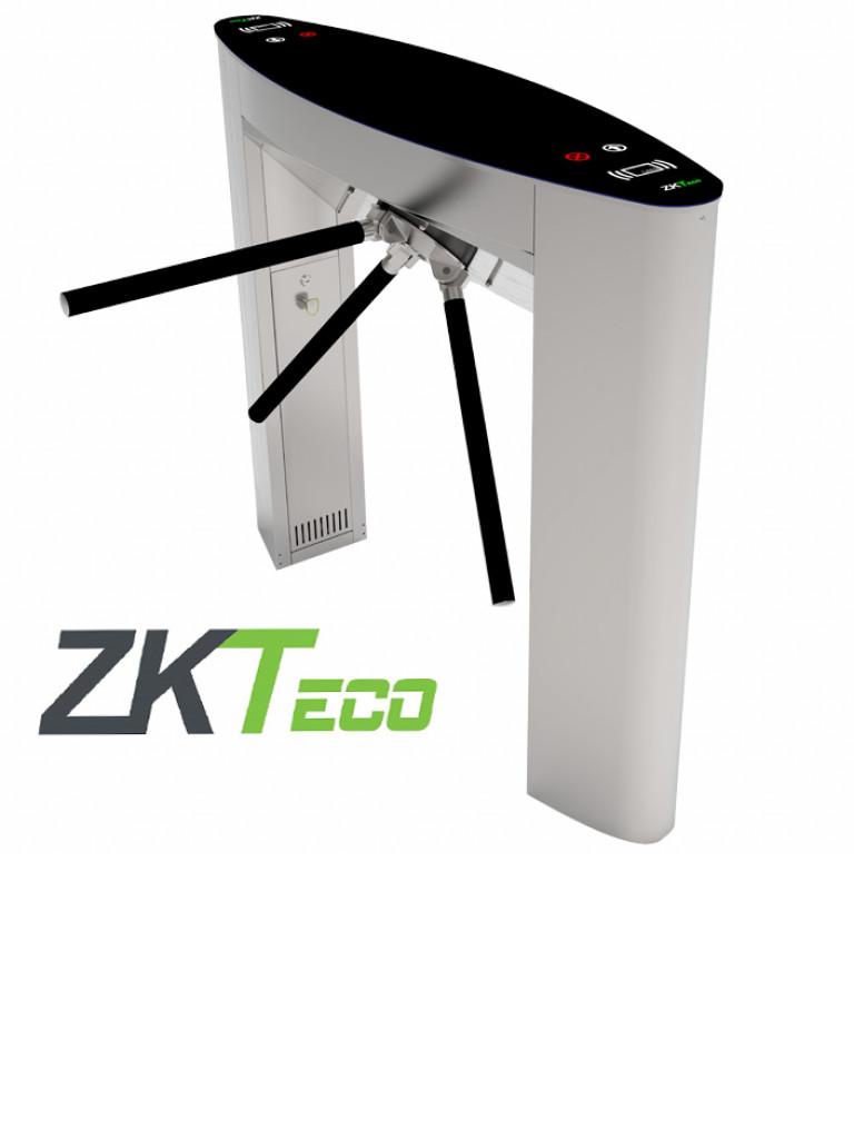 ZKTECO TS5022A - Torniquete Tipo Puente / Motorizado / Cubierta Superior de Cristal Templado / Incluye Biometricos FR1500 / Panel INBIO260 / 20000 FPS.