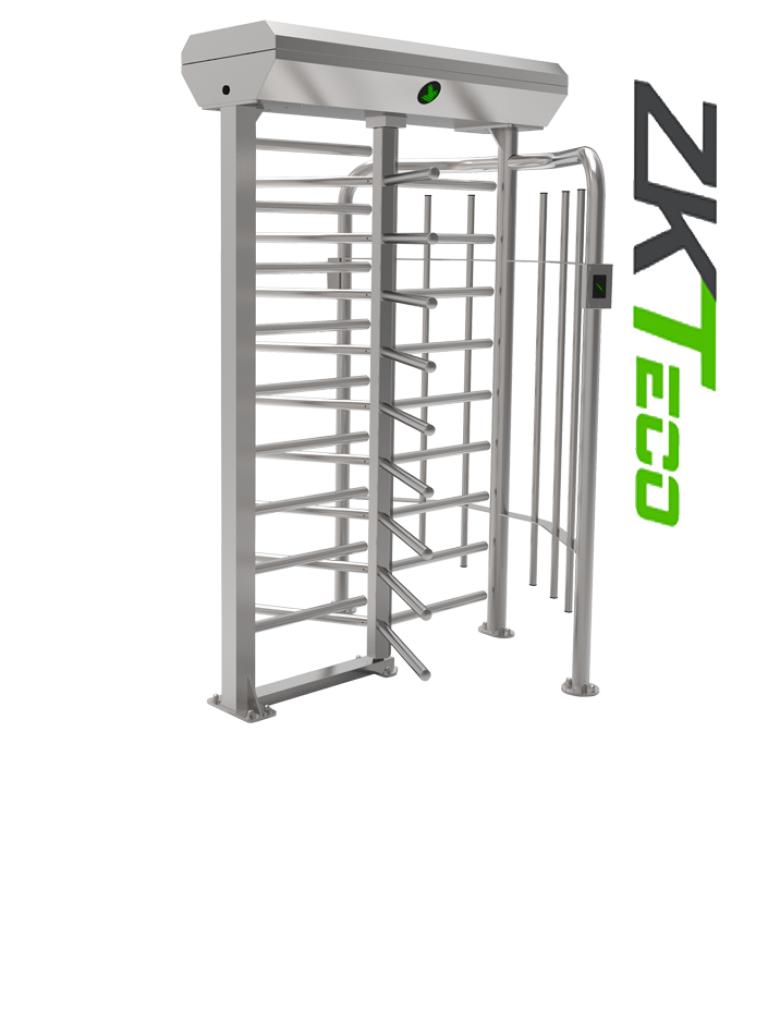 ZKTECO FHT2322 - Torniquete de Cuerpo Completo / para Exteriores / Un carril / Bidireccional de 58 CM / Acero Inoxidable / Incluye Lectores y Panel INBIO PULL