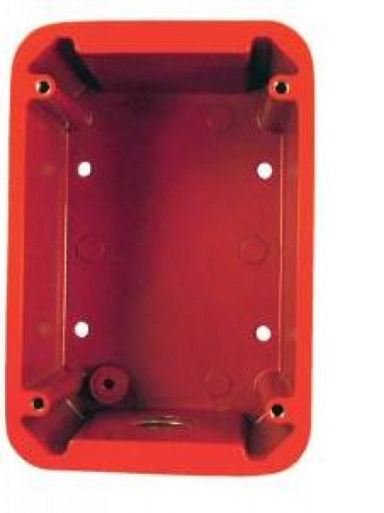 BOSCH F_FMM100WPBBR - Caja para estacion manual / IP54 / Color rojo