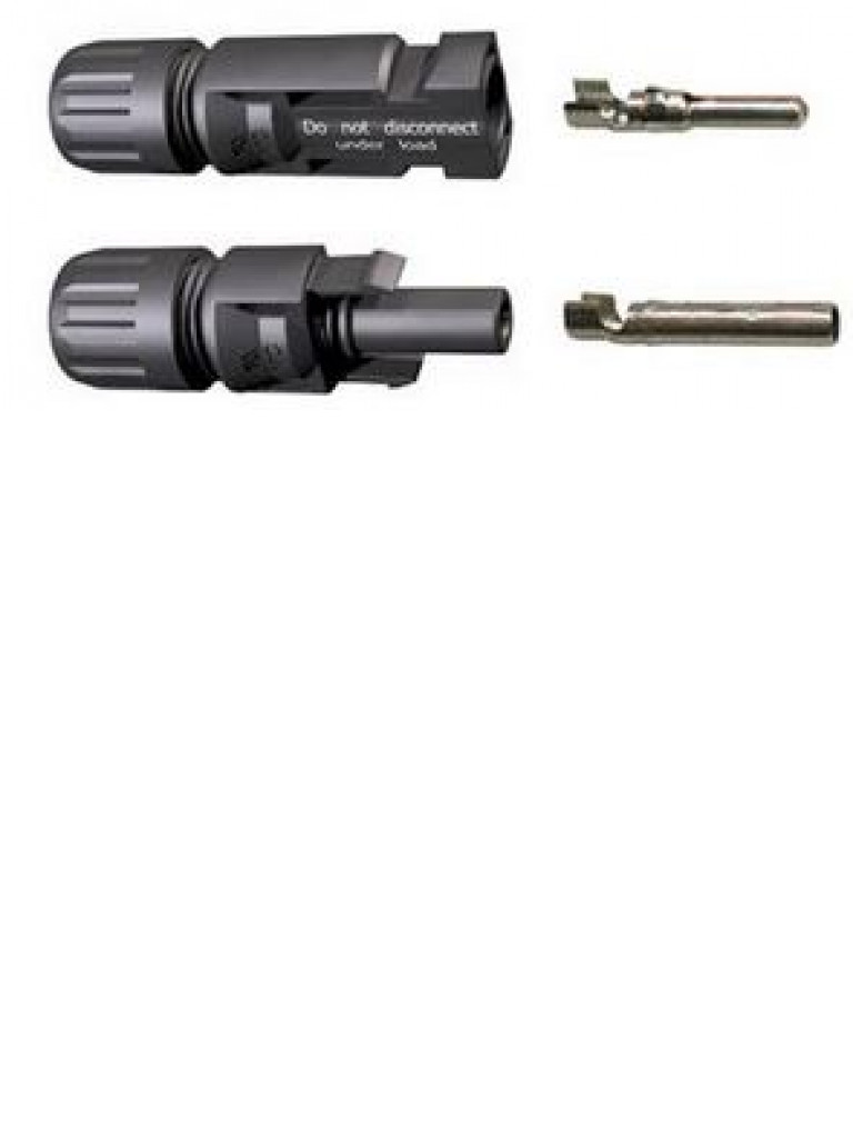 PV 10PC8 - Bolsa con 10 conectores MC4, 5 hembras y 5 macho p / Cable 8  AWG