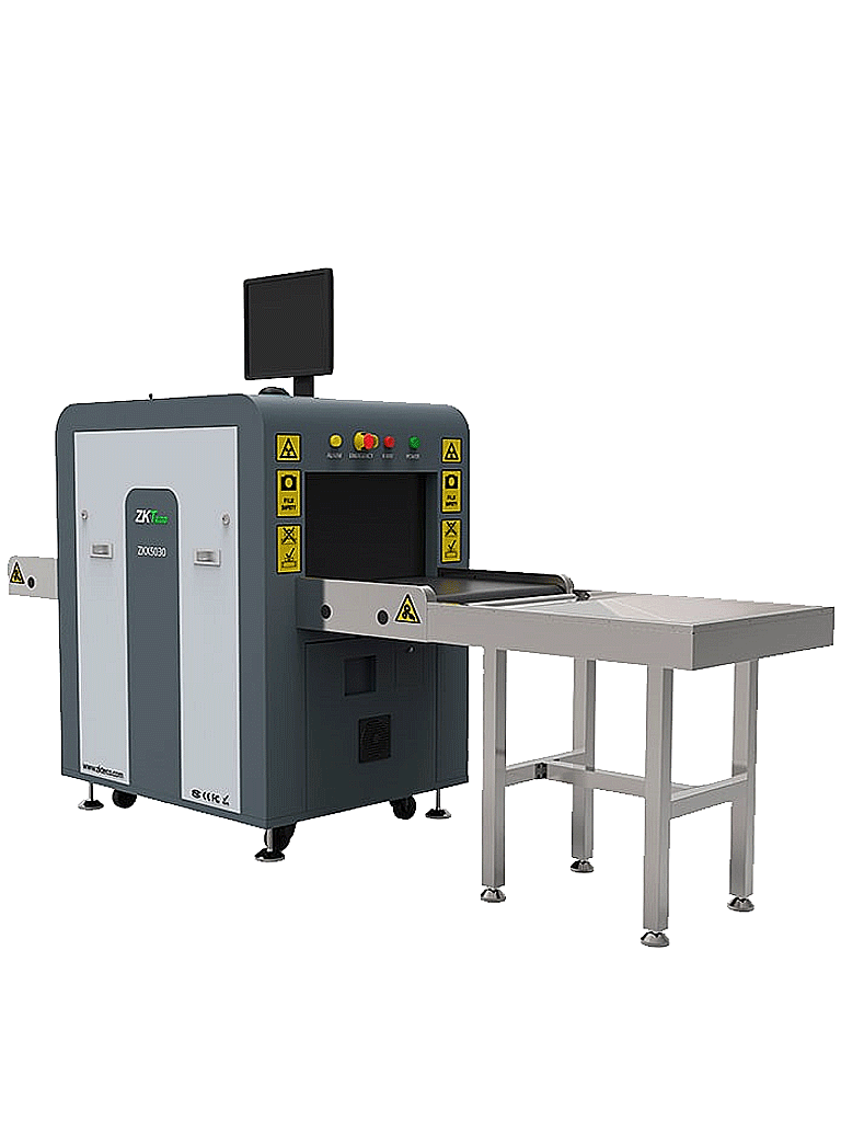 ZKTECO ZKX5030C - Maquina de  Rayos X para equipaje / Energía Doble / Escaneo bidireccional / Túnel de  50 x 30 cm