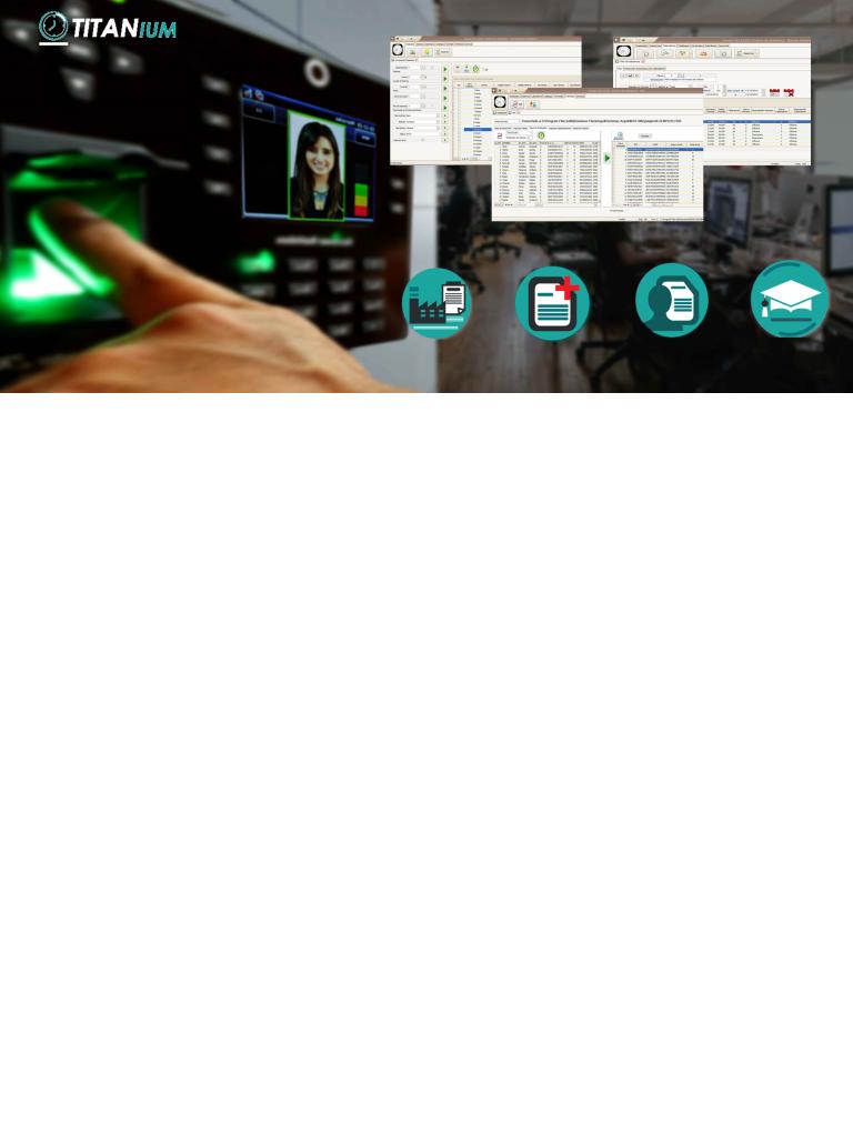 ZKACCESO TITANIUM - Licencia para control de asistencia con modulo de recursos humanos 500 empleados 2 PC 2 biometricos vigencia permanente