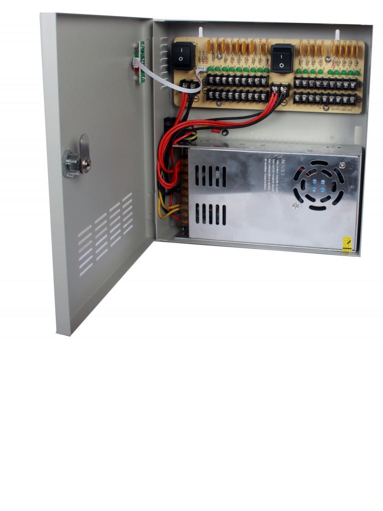 SAXXON PSU1230D18 - Fuente de poder 12V CD / 30 Amperes / Distribuidor para 18 camaras / 1.65 Amperes por canal / Ce / FCC / Certificacion UL