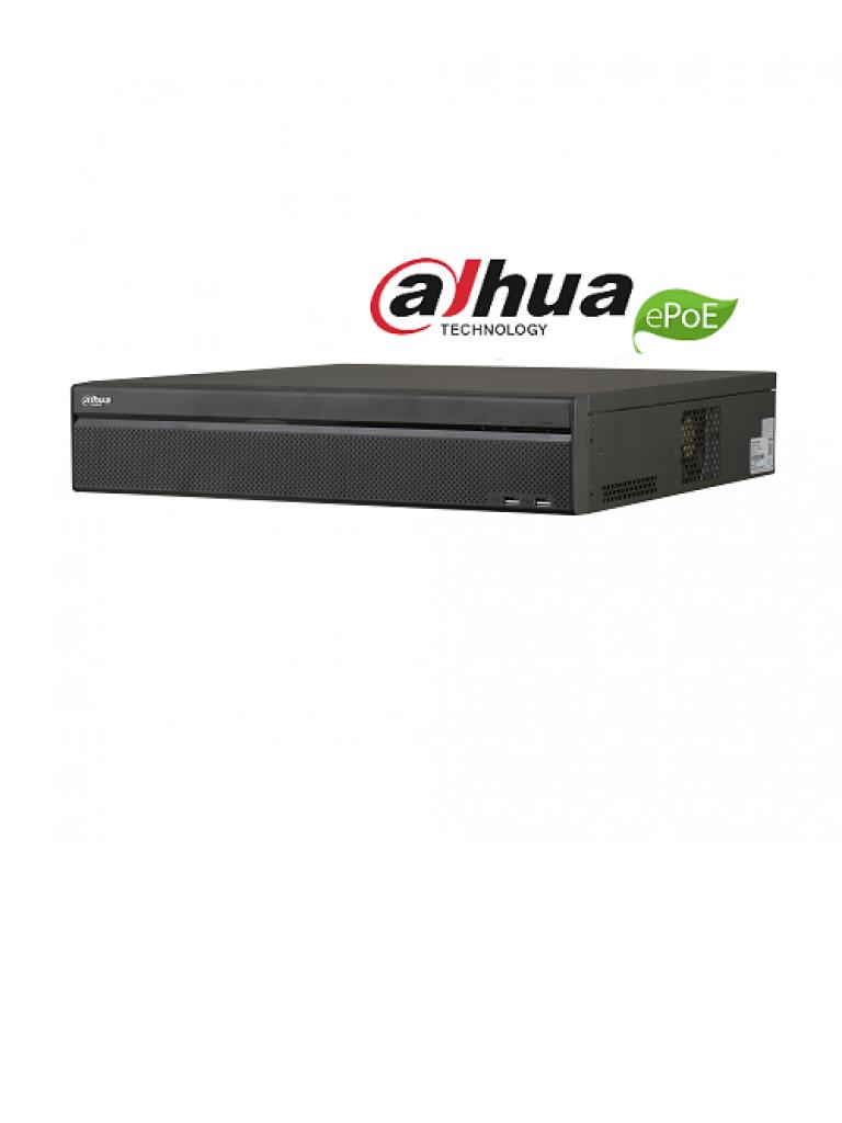 DAHUA NVR5832P4KS2E - NVR 32 Canales IP 4K/ H265+/ Rendimiento 320 Mbps/ 16 Puertos Poe en Total/ 8 Puertos Soportan ePoE/ 2 HDMI/ 8 Puertos SATA/ DEWARPING