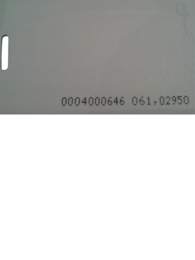 ZKTECO IDCARDKR2K - Paquete de 10 Tarjetas  RFID 125 Khz / 1.88 mm de Grosor / Modelo A16060037