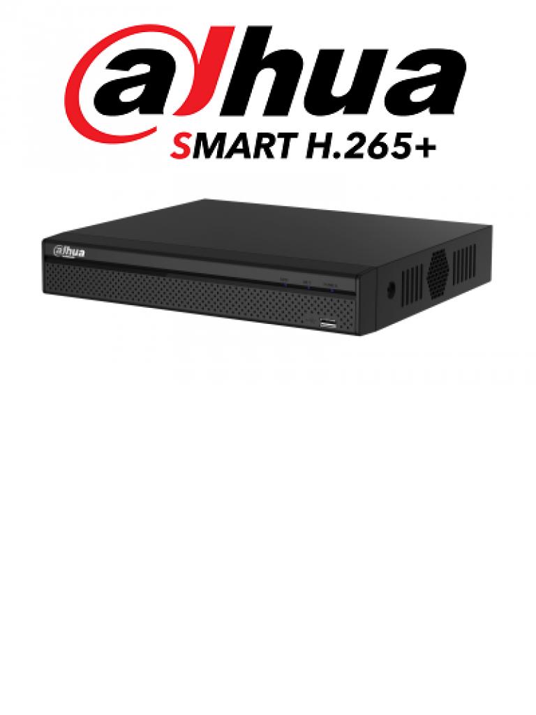 DAHUA XVR5108HEX - DVR 8 Canales 4 megapixeles  Lite /  1080p / H265+ / 8 Audio / 8 Entradas de alarma y 1 salida / 4 Ch IP adicionales
