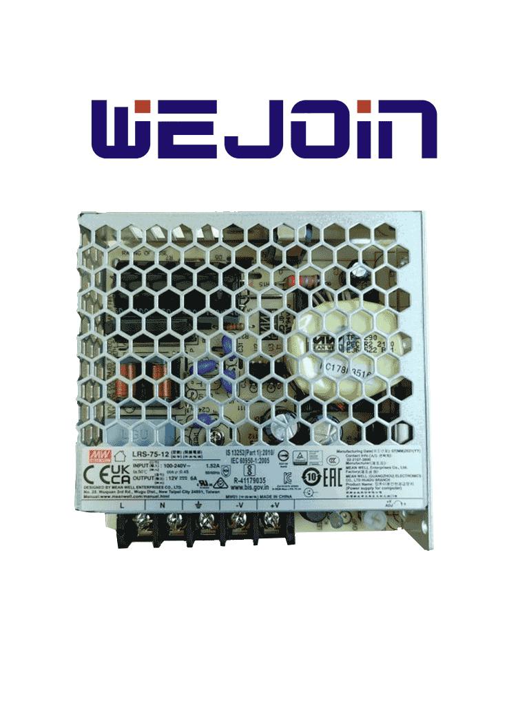 WEJOIN WJTSPWRSPPLY - Fuente de poder para torniquete peatonal WJTS122 / WJTS112
