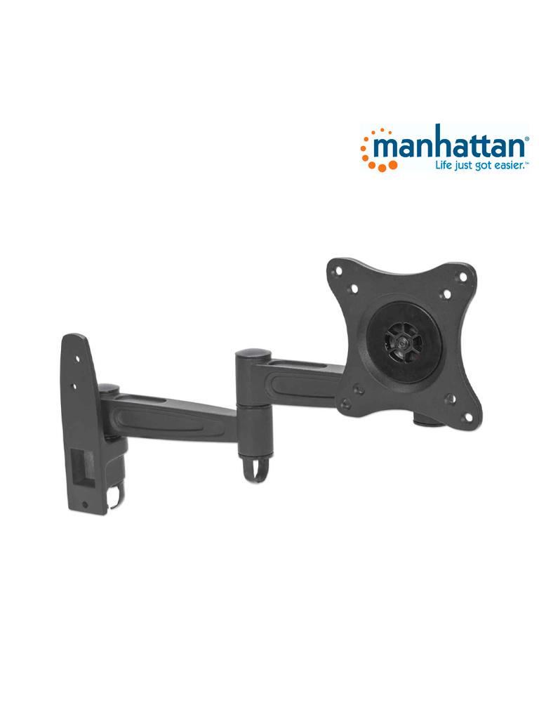 MANHATTAN 423670 - Soporte Monitor / para 1 Monitor de 13 a 27pulg / Pared / Articulado