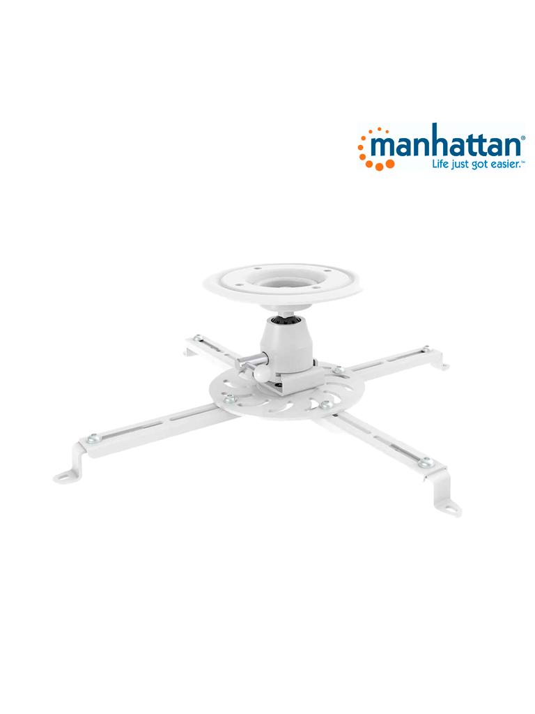 MANHATTAN 461153 - Soporte Proyector / para Techo / Básico / 25.0kg, /Blanco