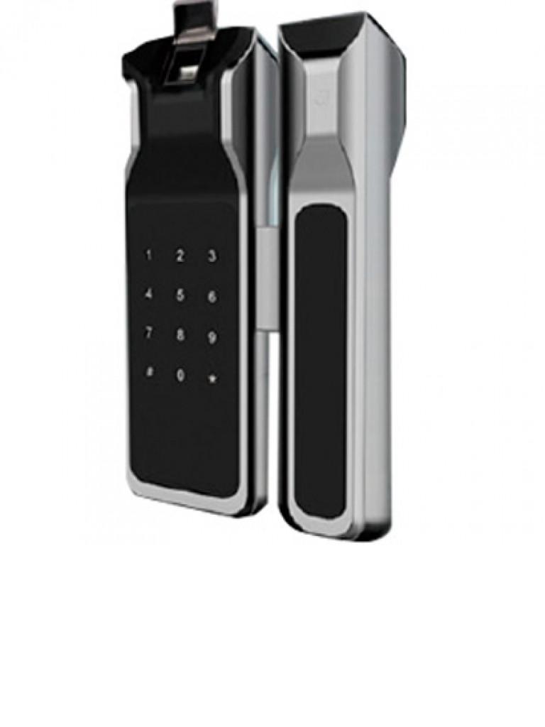 ZKTECO GL200 - Cerradura Biometrica para Puertas de Vidrio / 100 Usuarios / Ancho de Puerta de 8 a 13 mm