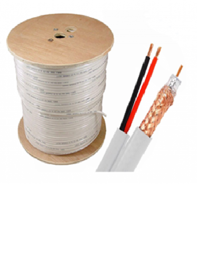 SAXXON OSIACOP2305BI - Cable siames conductor cobre / Malla proteccion CCA / 305 Metros / Color blanco / Interior / Par cable electrico CCA calibre 18  AWG