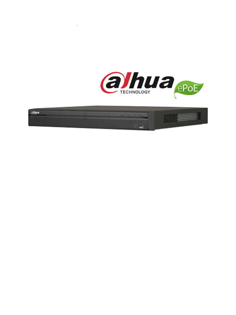DAHUA NVR5208P4KS2E - NVR 8 Canales IP 4K / H265+ / Rendimiento 320  Mbps / 8 Puertos tecnologia E PoE hasta 800M /  PoE /  HDMI / Pos / 2 SATA / P2P / DEWARPING
