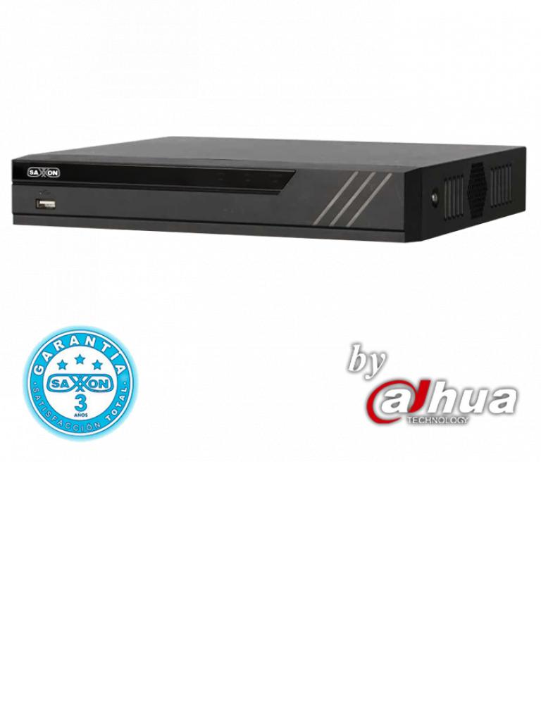 SAXXON PRO SAX4104XHX - DVR 4 Canales  HDCVI pentahibrido  720p /  1080p  Lite / H265 / 1 Ch IP adicional 4+1 / 1 SATA Hasta 10TB / Smart audio  HDCVI / P2P