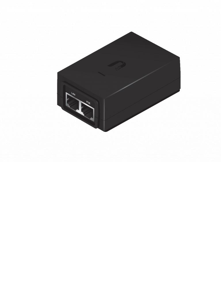 UBIQUITI POE4824WG - Inyector  PoE  Gigabit para equipos UBIQUITI / 48 VDC / 0.5A / Compatible con equipo UAPACPROE /  802.3af / Color negro